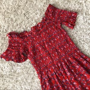 Urban Outfitters Red Smocked dress